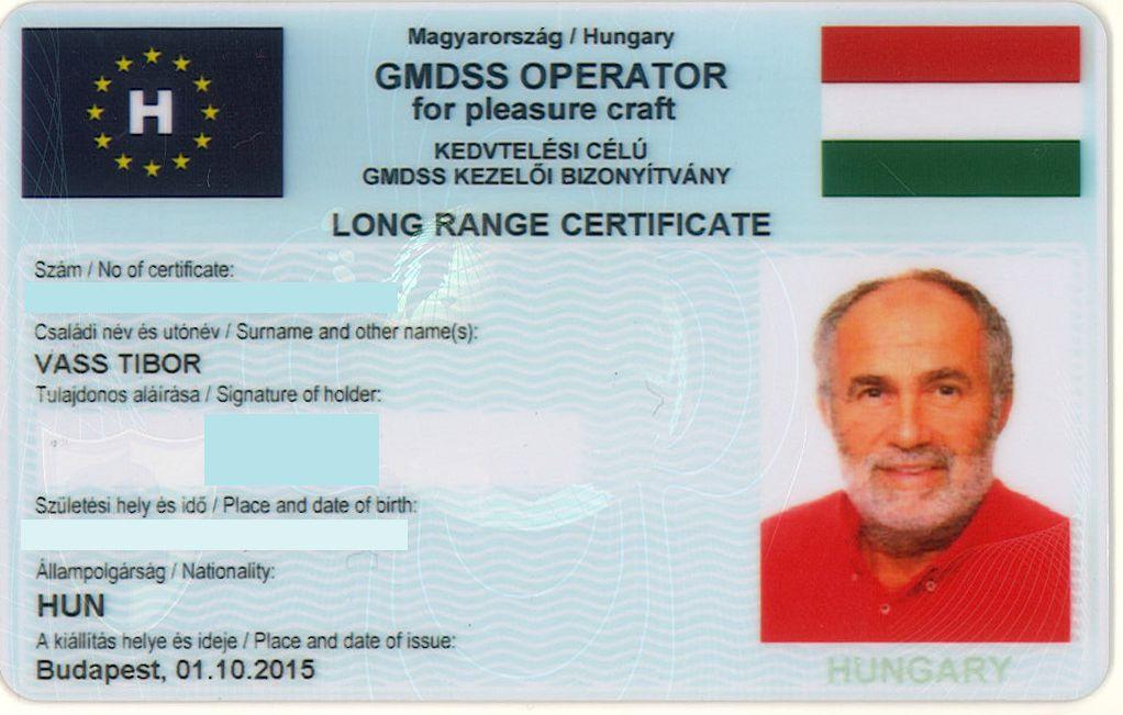 Tengeri rádiós jogosítvány