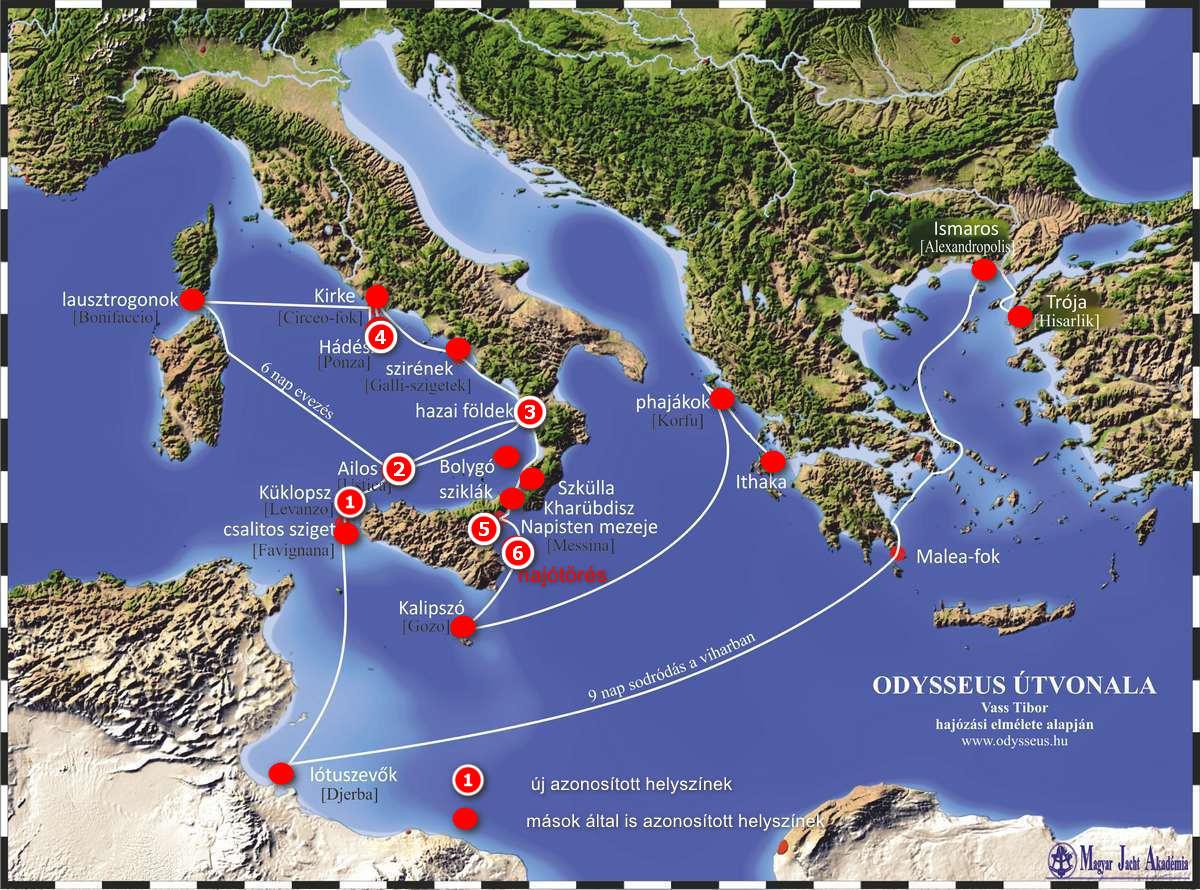 Odysseus útvonala